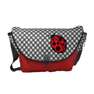 Ladybug Gingham Messenger Bag