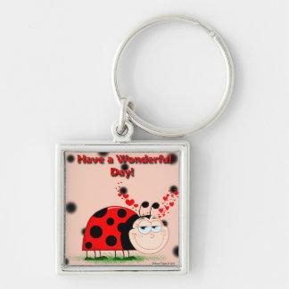 Ladybug Happiness Keychain