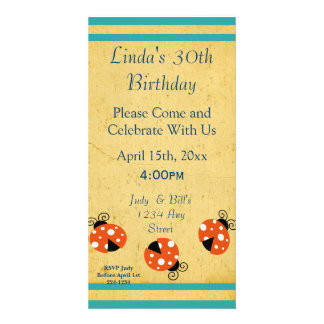 Ladybug Happy Birthday Card