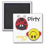 Ladybug & Happy Face(Clean/Dirty)  Dishwash Magnet Refrigerator Magnets