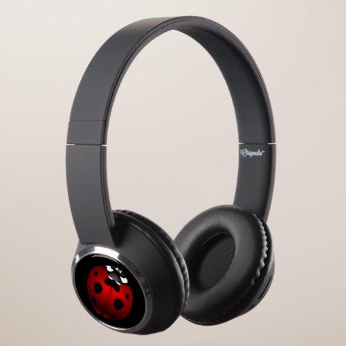 Ladybug Headphones Ladybird Bug Gifts