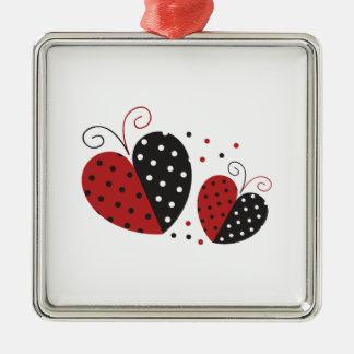 Ladybug Heart cute Metal Ornament
