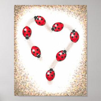 Ladybug Heart Fine Art Print