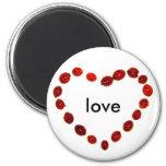 Ladybug Heart Love Magnet