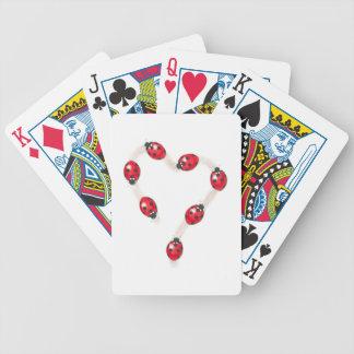 Ladybug Heart Playing Cards