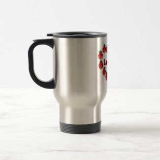 Ladybug Heart Travel Coffee Mug