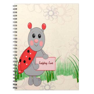 Ladybug Holding Sign For Ladybug Love Notebook