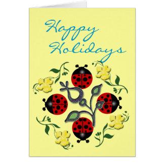 Ladybug Holiday Card