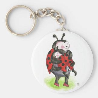 Ladybug hug keychain