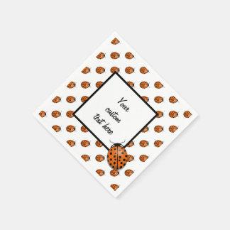 Ladybug in orange paper napkin
