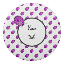 Ladybug in pink/purple eraser