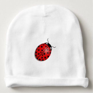 Ladybug in red baby beanie