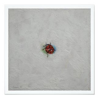 Ladybug 5.25x5.25 Square Paper Invitation Card