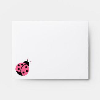Ladybug Invitation Envelopes
