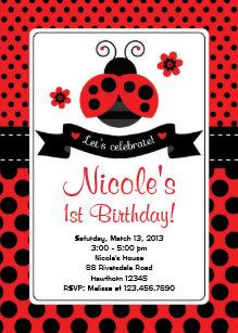 ladybug invitations 1200 ladybug announcements invites