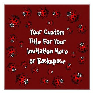 Ladybug Invitations Personalized  Red Ladybug RSVP