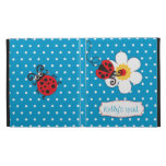 Ladybug kids named blue red ipad folio case