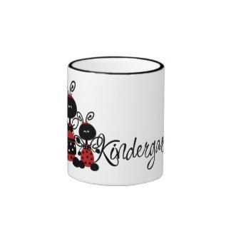 Ladybug Kindergarten Ringer Coffee Mug