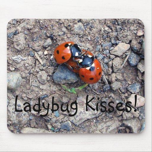 Ladybug Kisses Mouse Pad