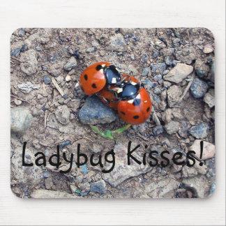 Ladybug Kisses Mousepads