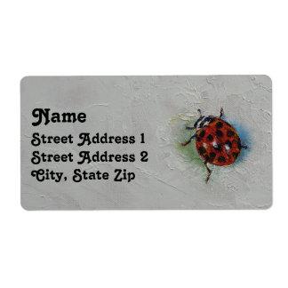 Ladybug Shipping Label
