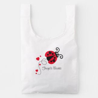 Ladybug lady bird red kids book bag