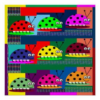 LadyBUG lady Bug Insect KIDS Love Colorful Display Poster