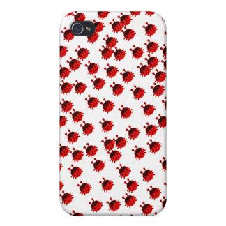 ladybug ladybeetle beetle cute bug red ladybug iPhone 4 cases