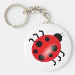 Ladybug - Ladybird Basic Round Button Keychain
