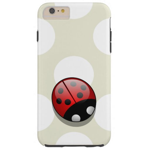 Ladybug (Ladybird, Lady Beetle) with Dots - Red Tough iPhone 6 Plus Case
