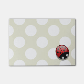 Ladybug (Ladybird, Lady Beetle) with Dots - Red Post-it® Notes