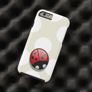 Ladybug (Ladybird, Lady Beetle) with Dots - Red Tough iPhone 6 Case