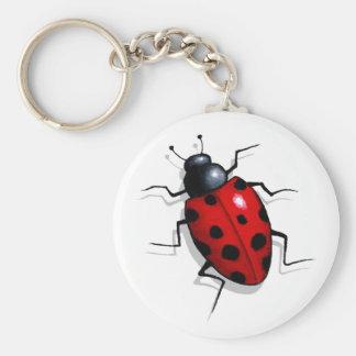Ladybug, Ladybird: Original Realistic Artwork Keychain