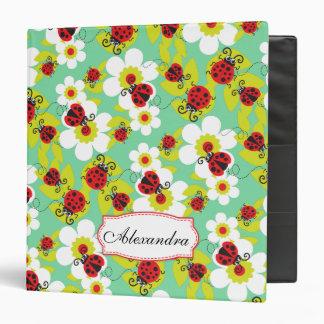 Ladybug / ladybird pattern named green red folder