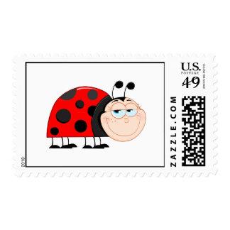Ladybug Ladybugs Bug Bugs Funny Insect Cute Postage Stamp