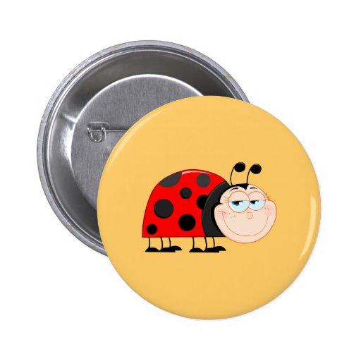 Ladybug Ladybugs Bug Bugs Funny Insect Cute Smile Pins
