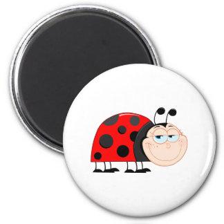 Ladybug Ladybugs Bug Bugs Funny Insect Cute Smile Magnets