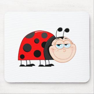 Ladybug Ladybugs Bug Bugs Funny Insect Cute Smile Mouse Pad