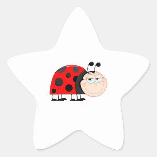 Ladybug Ladybugs Bug Bugs Funny Insect Cute Smile Star Sticker