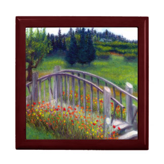 Ladybug Lane Footbridge & Flowers Large Gift Box