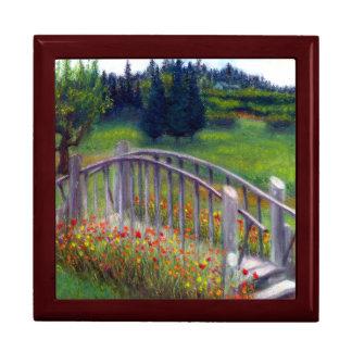 Ladybug Lane Footbridge & Flowers Large Gift Box