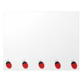 Ladybug Large Notepad