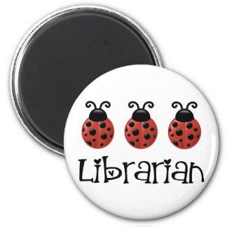 Ladybug Librarian Gift Fridge Magnet