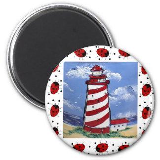 Ladybug Lighthouses Magnets