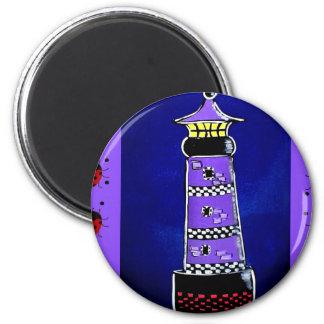 Ladybug Lighthouses Refrigerator Magnet