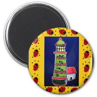 Ladybug Lighthouses Fridge Magnet