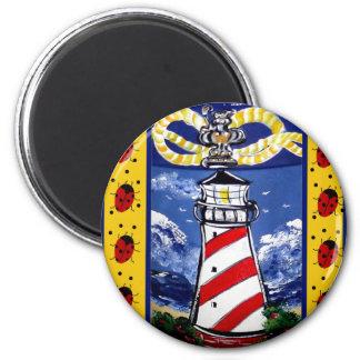 Ladybug Lighthouses Refrigerator Magnets