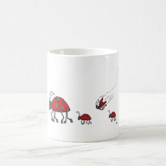 Ladybug Lineup Cartoon Coffee Mug