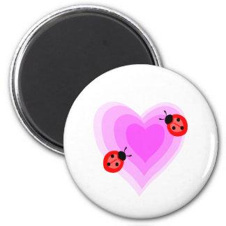 Ladybug Love 2 Inch Round Magnet