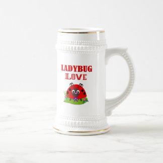 LADYBUG LOVE BEER STEIN